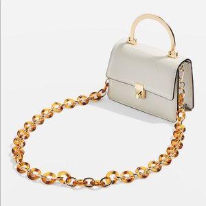 Topshop Champagne Shoulder Bag, CREAM